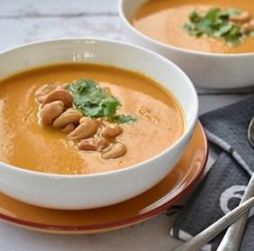 מרק כתום תאילנדי קטיפתי