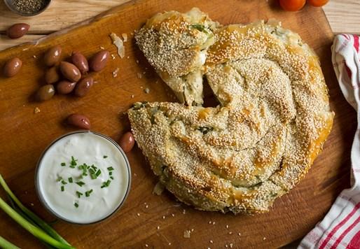 שבלול פילו עם גבינות ותרד