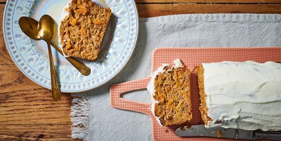 עוגת גזר עם ציפוי ממכר
